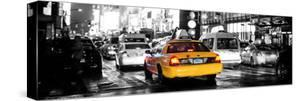 Panoramic Urban View - Yellow Cab on 7th Avenue at Times Square by Night by Philippe Hugonnard