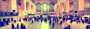 Panoramic View - Grand Central Terminal at 42nd Street and Park Avenue in Midtown Manhattan by Philippe Hugonnard