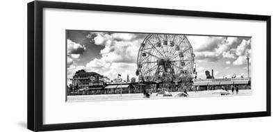 Panoramic View, Vintage Beach, Wonder Wheel, Coney Island, Brooklyn, New York