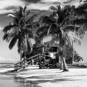 Paradisiacal Beach with a Life Guard Station - Miami - Florida by Philippe Hugonnard