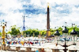 Paris Concorde - In the Style of Oil Painting by Philippe Hugonnard