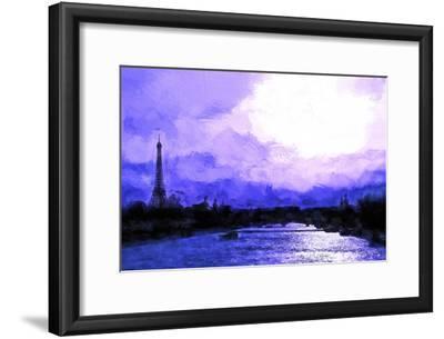 Paris Eiffel Purple Sunset