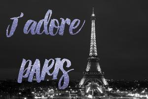 Paris Fashion Series - J'adore Paris - Eiffel Tower at Night VII by Philippe Hugonnard