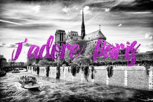 Paris Fashion Series - J'adore Paris - Notre Dame Cathedral II by Philippe Hugonnard