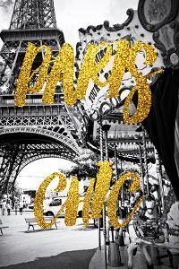Paris Fashion Series - Paris Chic - Eiffel Tower and Carousel by Philippe Hugonnard