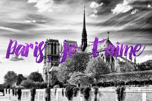 Paris Fashion Series - Paris, je t'aime - Notre Dame Cathedral II by Philippe Hugonnard