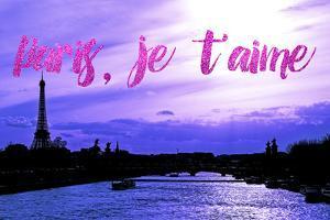 Paris Fashion Series - Paris, je t'aime - Seine River at Sunset III by Philippe Hugonnard