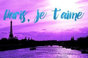 Paris Fashion Series - Paris, je t'aime - Seine River at Sunset IV by Philippe Hugonnard