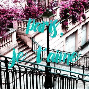 Paris Fashion Series - Paris, je t'aime - Stairs of Montmartre III by Philippe Hugonnard