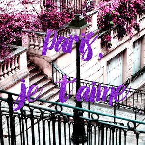 Paris Fashion Series - Paris, je t'aime - Stairs of Montmartre by Philippe Hugonnard