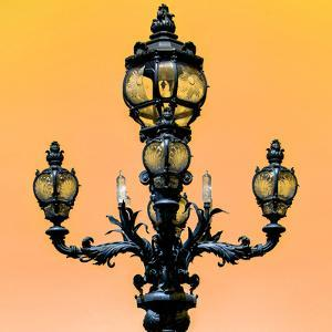 Paris Focus - Colors French Lamppost by Philippe Hugonnard