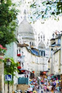 Paris Montmartre VI - In the Style of Oil Painting by Philippe Hugonnard