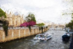 Paris Seine IV - In the Style of Oil Painting by Philippe Hugonnard