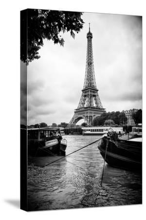 Paris sur Seine Collection - Barges along River Seine with Eiffel Tower XIII by Philippe Hugonnard