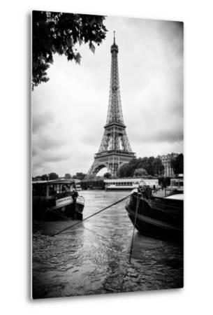 Paris sur Seine Collection - Barges along River Seine with Eiffel Tower XIII