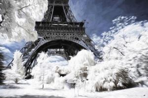 Paris under the snow - In the Style of Oil Painting by Philippe Hugonnard