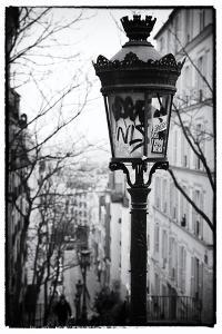 Parisian Street Lamps on a Staircase - Montmartre - Paris - France by Philippe Hugonnard