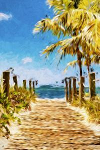 Path to the Beach II - In the Style of Oil Painting by Philippe Hugonnard