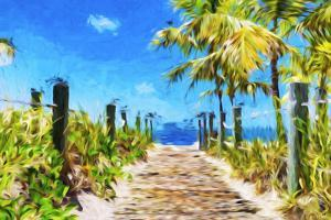 Path to the Beach - In the Style of Oil Painting by Philippe Hugonnard