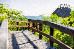 Path to the Beach IV - In the Style of Oil Painting by Philippe Hugonnard