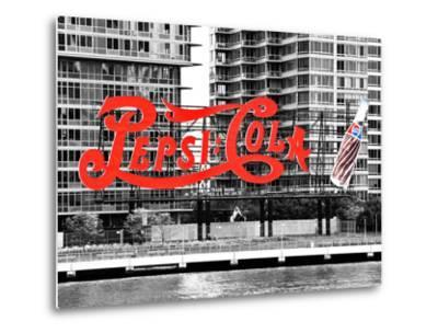 Pepsi Cola Bottling Sign, Long Island City, New York, United States, Black and White Photography