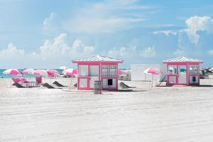 Pink Beach Houses - Miami Beach - Florida by Philippe Hugonnard