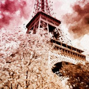 Pink Eiffel - In the Style of Oil Painting by Philippe Hugonnard