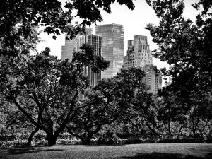 Place for Lovers in Central Park, Manhattan, New York City, Black and White Photography by Philippe Hugonnard