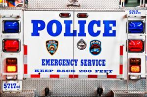 Police Truck, Police Department City of New York, Nypd, US, USA, White Frame, Full Size Photography by Philippe Hugonnard