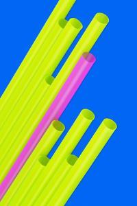 Pop Straws Collection - Blue & Green II by Philippe Hugonnard