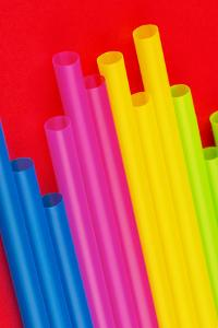 Pop Straws Collection - Colourful & Red III by Philippe Hugonnard