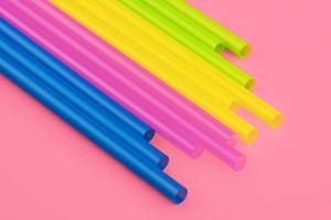 Pop Straws Collection - Light Pink & Colourful II by Philippe Hugonnard