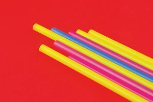 Pop Straws Collection - Red & Colourful II by Philippe Hugonnard