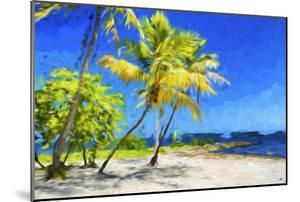 Quiet Beach III - In the Style of Oil Painting by Philippe Hugonnard