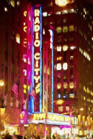 Radio City II - In the Style of Oil Painting by Philippe Hugonnard