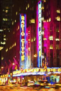 Radio City III - In the Style of Oil Painting by Philippe Hugonnard