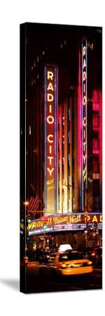 Radio City Music Hall and Yellow Cab by Night, Manhattan, Times Square, New York City
