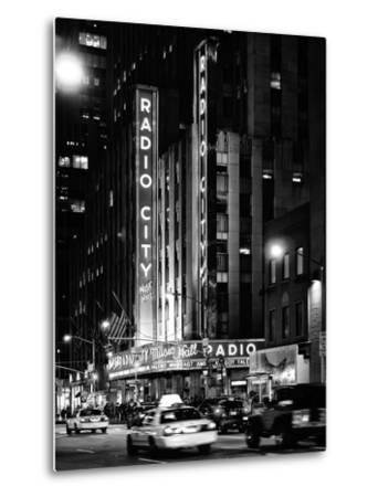 Radio City Music Hall and Yellow Cab by Night, Manhattan, Times Square, NYC, USA