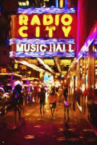 Radio City Music Hall II - In the Style of Oil Painting by Philippe Hugonnard