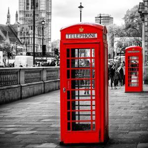 Red Telephone Booths - London - UK - England - United Kingdom - Europe by Philippe Hugonnard
