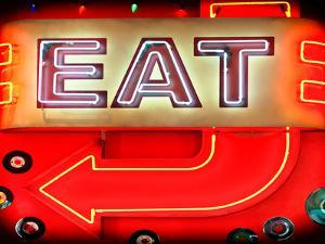 """Retail Signage """"Eat"""", Restaurant Sign, New York, USA by Philippe Hugonnard"""