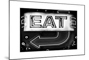 """Retail Signage """"Eat"""", Restaurant Sign, New Yorka, White Frame, Full Size Photography by Philippe Hugonnard"""