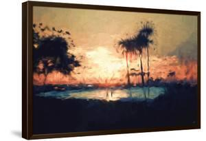Romantic Beach - In the Style of Oil Painting by Philippe Hugonnard