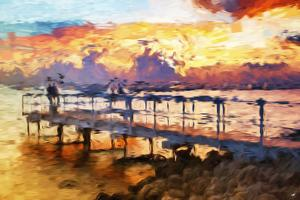 Romantic Pontoon - In the Style of Oil Painting by Philippe Hugonnard