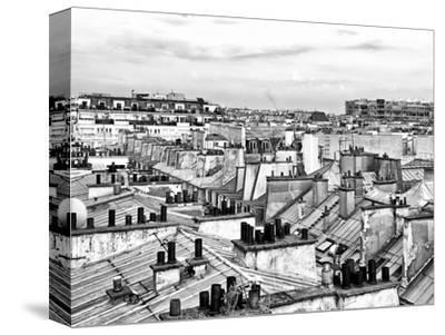 Rooftops View, Black and White Photography, Pompidou Center, Paris, France