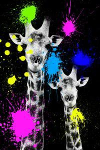 Safari Colors Pop Collection - Giraffes Portrait IV by Philippe Hugonnard