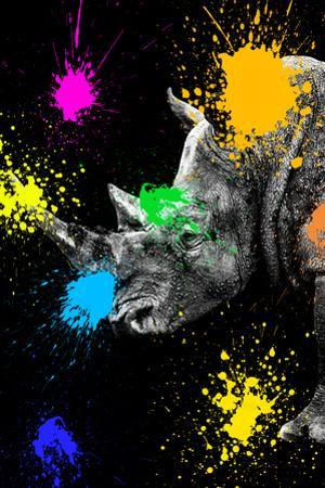 Safari Colors Pop Collection - Rhino Portrait III by Philippe Hugonnard