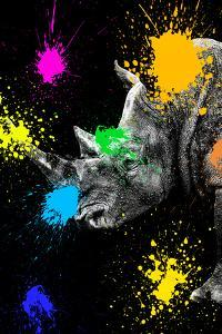 Safari Colors Pop Collection - Rhino Portrait III by Philippe Hugonnard