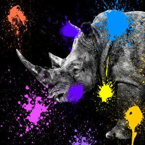Safari Colors Pop Collection - Rhino Portrait by Philippe Hugonnard