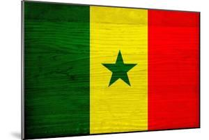 Senegal Flag Design with Wood Patterning - Flags of the World Series by Philippe Hugonnard